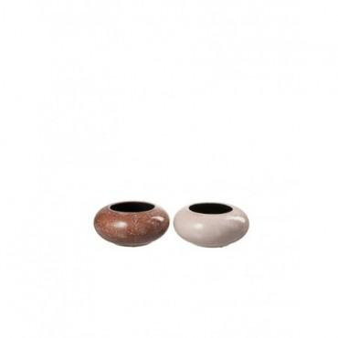 Cache pot Ovale Ceramique Mix petit Assortiment De 2