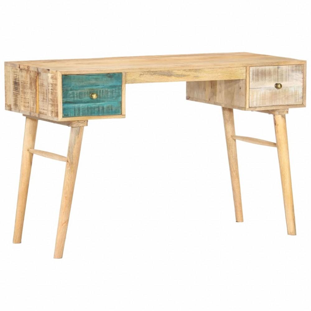 Bureau avec 2 tiroirs en bois de manguier 118x50x75cm