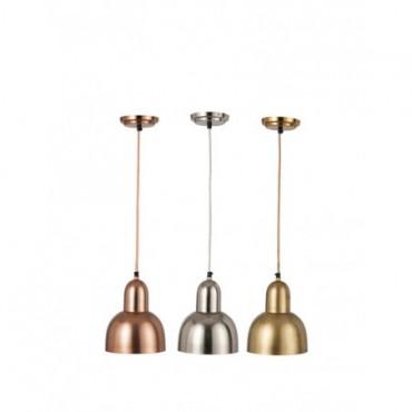 Lampe Suspendue Boule Metal Or Argent Cuivre Assortiment De 3