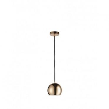 Lampe Pendante Boule Metal Or petit