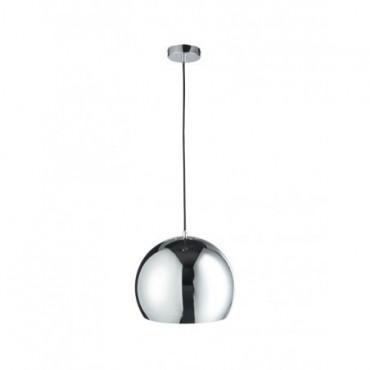 Lampe Pendante Boule Metal Argent Large