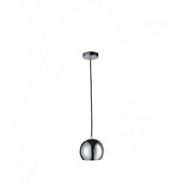 Lampe Pendante Boule Metal Argent petit