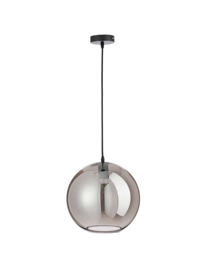 Lampe Boule Verre Argent Large