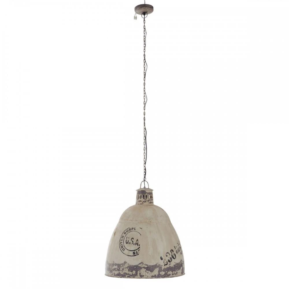 Lampe Suspendue Usa E27 Metal Creme