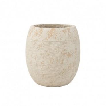 Cache-pot Haut Rustique Argile Blanc