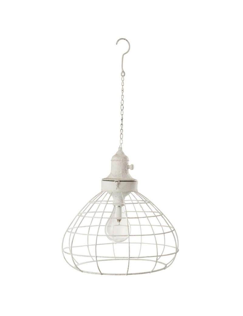 Lampe Plafond Batterie Led Metal Verre Blanc