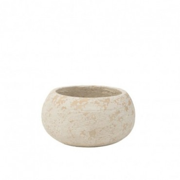Cache-pot Rustique Argile Blanc Extra L