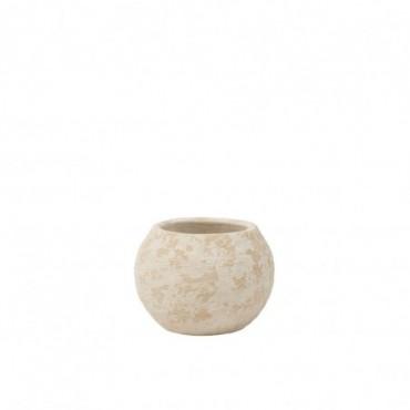 Cache-pot Rustique Argile Blanc L