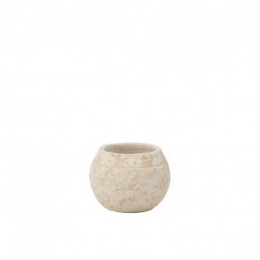 Cache-pot Rustique Argile Blanc M