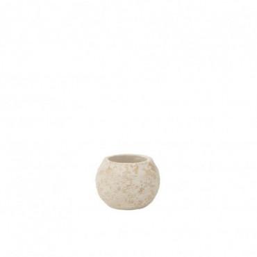 Cache-pot Rustique Argile Blanc S