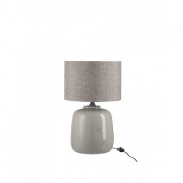 Pied De Lampe + Abat-Jour Ceramique Greige