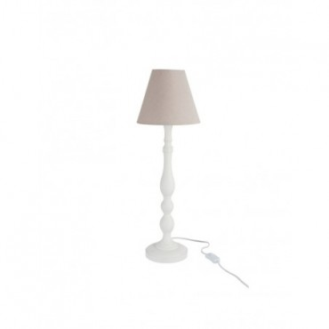 Lampe + Abat-Jour Rond Boule bois naturel