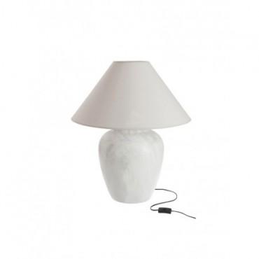Lampe + Abat-Jour Rond Terre Cuite Marbre