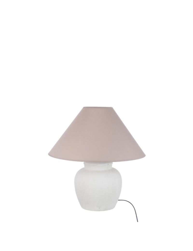 Lampe + Abat-Jour Ceramique Blanc Mat petit