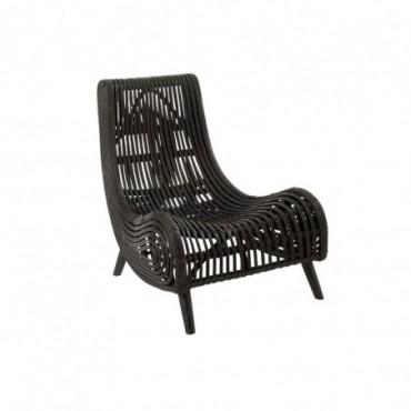 Chaise longue en Rotin noir