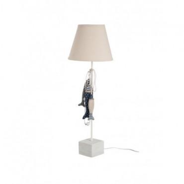 Lampe Poisson Beige Bleu E27 60W 2 30V-2 40V