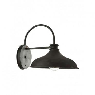 Lampe Plafond Cylindre Metal Verre Rouille Noir