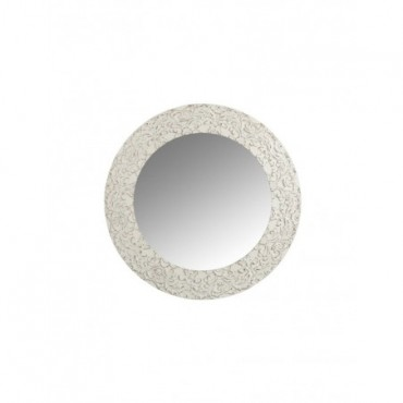Miroir Rond Bois Blanc