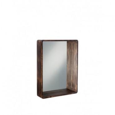 Miroir Rectangulaire Bois Marron Large