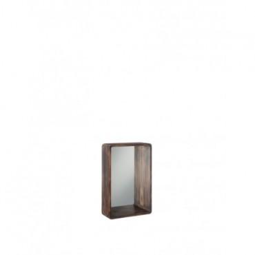 Miroir Rectangulaire Bois Marron petit