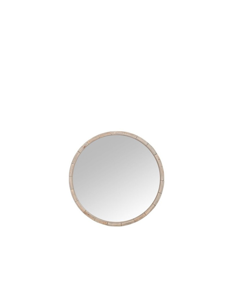 Miroir Rond bois naturel