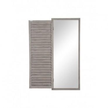Miroir 1 Volet Bois Gris