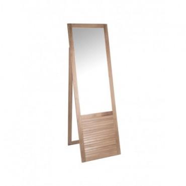 Miroir Debout Rectangulaire bois naturel