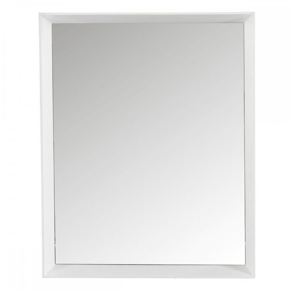 Miroir Rectangulaire bois Verre Blanc