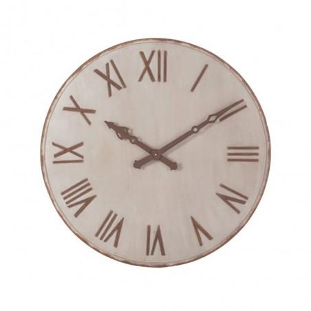Horloge Chiffres Romains Metal Beige Rouille Large