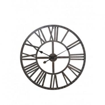 Horloge Ronde Chiffres RomainsFer Forge Marron petit