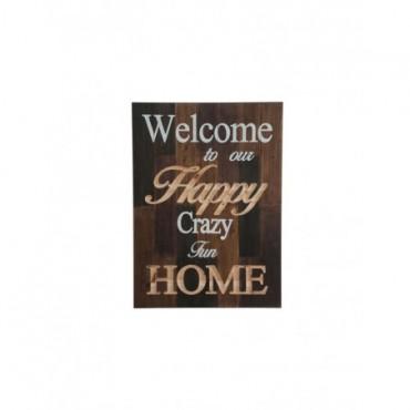 Plaque Happy Home bois naturel