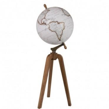 Globe sur pied Bois Blanc Extra L