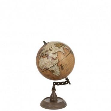 Globe sur pied Bois Rouille M