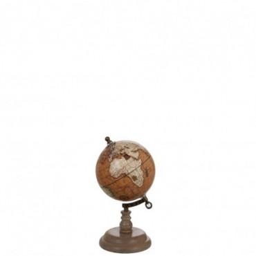 Globe sur pied Bois Rouille S