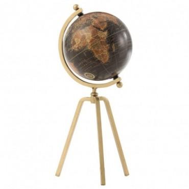 Globe Trepied Métal-Plastique Or-Noir L