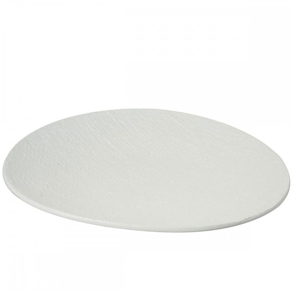 Assiette Relief Ceramique Blanc