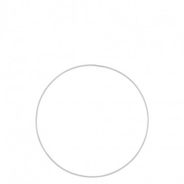 Cercle Deco Métal Blanc Xxl 80Cm