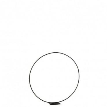 Cercle décoratif sur pied Métal Noir M