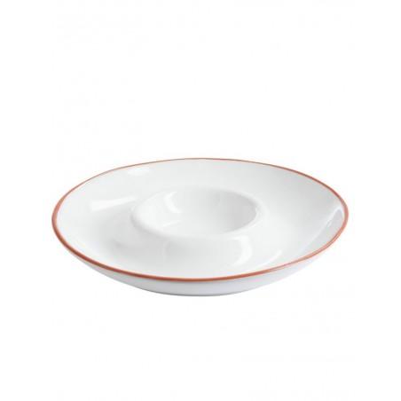Plat Chips Terracotta Blanc