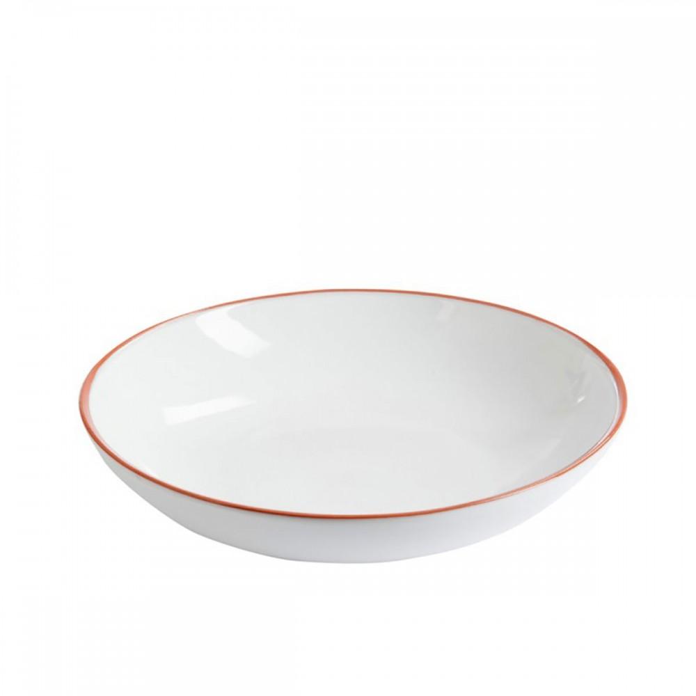 Plat Salade Terracotta Blanc Large