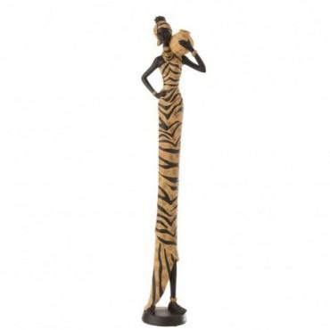 Africaine Zebre Résine Noir-Marron