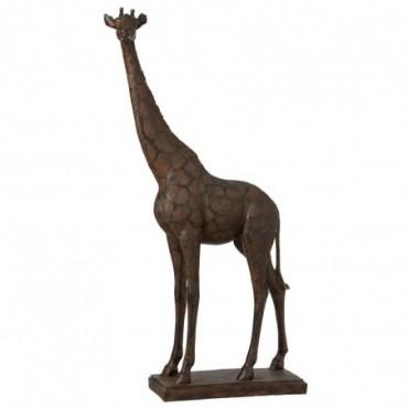 Girafe Résine Marron L
