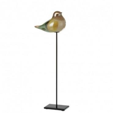 Oiseau + Pied Verre-Métal Mix L