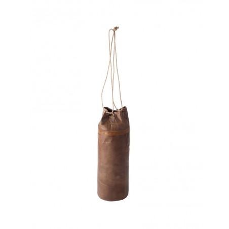 Sac De Boxe Cylindrique Cuir Cognac