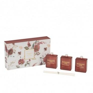 Boite 3 Huiles Parfumées Romance Life Mimosa&Rosa 50Ml
