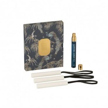 Boite de 3 Suspensions Parfumées Peacock Perfect Sapphire Amber Tea