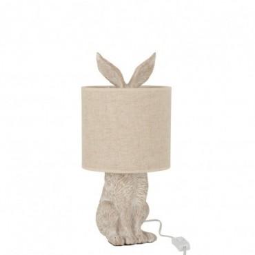 Lampe Lapin Ciment Beige-Beige