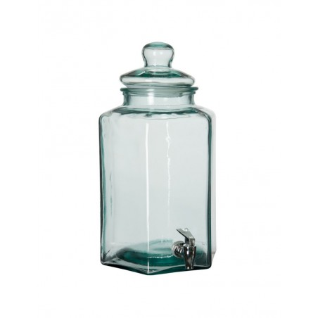 Distributeur De Boisson Hexagone Verre Transparent Large