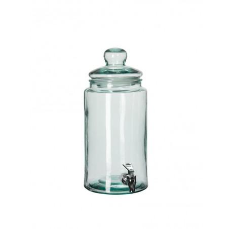 Distributeur De Boisson Cylindrique Verre Transparent