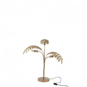 Lampe Palmier Zinc Or